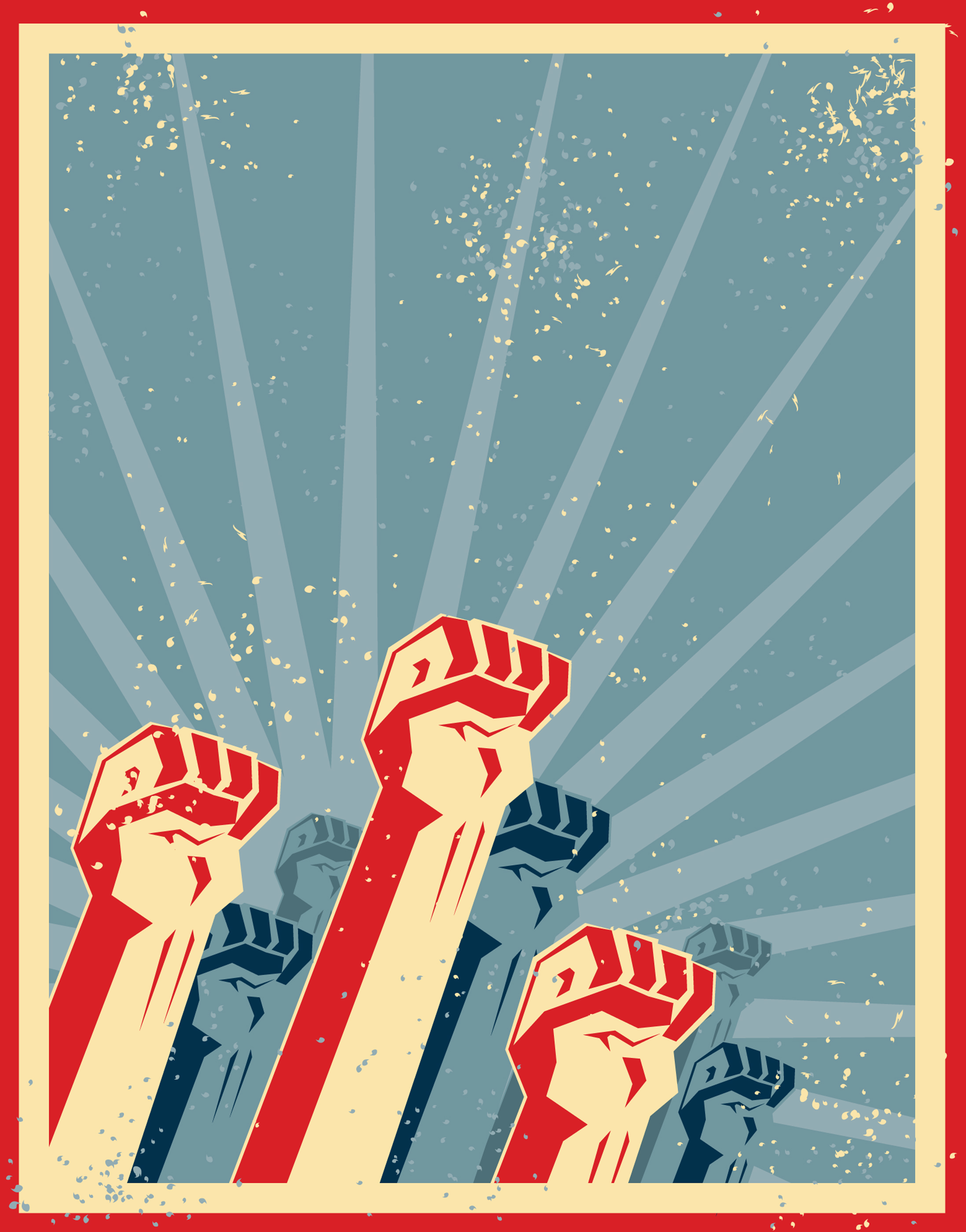 Very workers unite fist