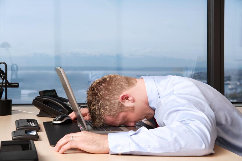 Depressed worker